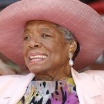 Maya Angelou smiles as she greets guests at a garden party at her home Thursday, May 20, 2010 in Winston-Salem, N.C.