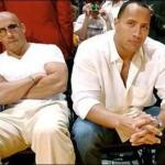 "Vin Diesel (left) and Dwayne ""The Rock"" Johnson"