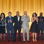 JUST WRIGHT Cast & Producers are introduced at Ziegfeld Theatre before start of screening