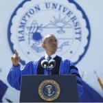 President Obama delivers commencement speech at Hampton University
