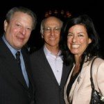 Al Gore, Larry David and Laurie David