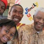 Zenani Mandela with relatives and her great-grandfather, Nelson