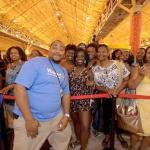 Mr. Rollback having fun with his new fans and Walmart aficionados at Essence festival