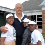 Athletes Against Drugs founder Stedman Graham pictured with local students/participants of his youth empowerment program.