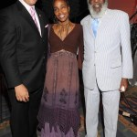 Marc Morial, President & CEO National Urban League, singer Ayanna Gregory and her dad, activist & comedian Dick Gregory, at the Women of Power Luncheon held during the 2010 National Urban League Centennial Conference.