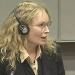 Actress Mia Farrow is seen in this image taken from TV at the  U.N.-backed Special Court for Sierra Leone in Leidschendam, Netherlands, Monday, Aug. 9, 2010.