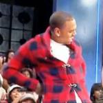 "Chris Brown teaches 106 & Park how to ""Dougie"""