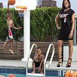 Savannah Brinson (right) with sons LeBron Jr. and Bryce (Douglas Friedman for Harper's Bazaar)