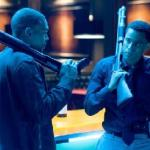 Chris Brown and Michael Ealy in &#039;Takers&#039;
