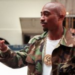Tupac Shakur arriving at New York Radio City Music Hall for the MTV Video Music Awards September 1996