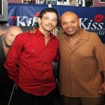 El DeBarge, back on the R&B scene, visited KISSing After Dark's Lenny Green. Shown left to right: El DeBarge & Lenny Green. Photo Credit: A.J. Miller