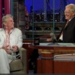 Douglas with Letterman