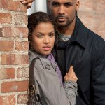 "Gugu Mbatha-Raw as Samantha Bloom, Boris Kodjoe as Steven Bloom in NBC's ""Undercovers"""