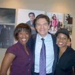Café Mocha's Angelique Perrin and MC Lyte with Dr. Oz