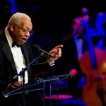 Musician Ellis Marsalis, Jr. accepts the 2011 Jazz Master Award on behalf of himself and his four sons at the National Endowment for the Arts Jazz Master Awards Ceremony and Concert held in New York, Tuesday, Jan. 11, 2011.