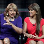 Evelyn Braxton (L) and Toni Braxton speak during the 'Braxton Family Values' panel at the WE tv portion of the 2011 Winter TCA press tour held at the Langham Hotel on January 7, 2011 in Pasadena, California.