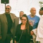 2011 Playboy Jazz Festival participants: Ronnie Laws, Ndugu Chancler, Bill Cosby, Harvey Mason and Patrice Rushen