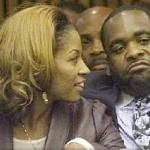 Kwame and Carlita Kilpatrick during the sentencing in his infamous trial in October 2008.