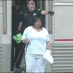 Lakeysha Beard being kicked off Amtrak train for excessive talk time on cell phone.