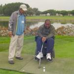 In spite of paralysis, disable vet mike De enjoys a round of golf