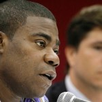 Tracy Morgan speaks at a news conference, June 21, 2011, in Nashville, Tenn.