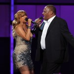 Singers Cherrelle (L) and Alexander O'Neal perform onstage during the BET Awards '11 held at the Shrine Auditorium on June 26, 2011 in Los Angeles, California