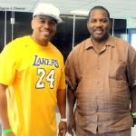 Actor Omar Gooding and Assemblyman Mike Davis at the 1st Annual David Bing Acdemy of Finance Celebrity Basketball Game./Dennis J. Freeman