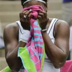 serena williams crying