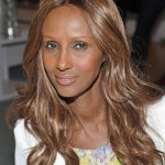 Model Iman poses for a picture at Invisible Beauty Sponsored By LVMH Moet Hennessy Louis Vuitton, New York at LVMH Tower Magic Room on July 19, 2011 in New York City. She turns 56 today.