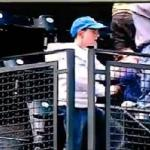 A young Michael Jackson fan shows off his moves during Seattle Mariners game.