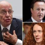 Owner of News Corp., Rupert Murdoch, British Prime Minister David Cameron, and News for the World Editor, Rebekah Brooks are tied in Murdoch's media empire scandal.