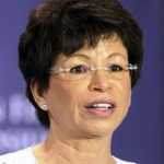 Valerie Jarrett, Senior Advisor and Assistant to the President, makes welcoming remarks during the Women in Finance Symposium at the Treasury Department July 12, 2011 in Washington