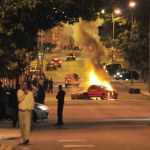 london riots - car burning