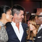 (L-R) Nicole Scherzinger, Simon Cowell, Paula Abdul and Antonio L.A. Reid at the World Premiere Screening of &quot;The X Factor&quot; at the ArcLight Theatre, Hollywood, CA.(Sept. 14, 2011)