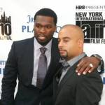 50 Cent (L) and Jessy Terrero