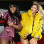 "Kelly Rowland (L) in Beyonce's video for ""Party"""