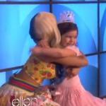 Nicki Minaj surprises her biggest little fan 8-year old Sophia Grace Brownlee and her lil&#039; 5-year old cousin Rosie Grace from Essex, England, on the Ellen Degeneres show Wednesday, October 12, 2011