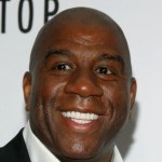 "Magic Johnson attends ""The Mountaintop"" Broadway opening night at The Bernard B. Jacobs Theatre on October 13, 2011 in New York City"