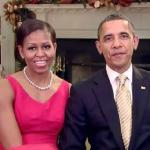 michelle & barack christmas greeting