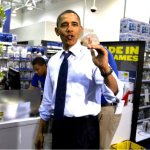 President Obama in Best Buy, Dec. 21, 2011