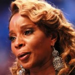 Mary J Blige NBA Allstar Game closeup