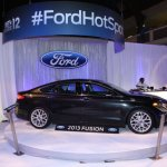 The real show stopper and guest of honor in the Ford Hot Spot was the all-new 2013 Ford Fusion.  The attractive vehicle took centerstage and drew the awe and respect of all who visited the lounge.