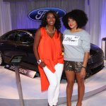 Go-to-girl award show tribute girl and formidable recording artist Marsha Ambrosius also visited the Ford Hot Spot to enjoy the atomosphere and pose with the 2013 Fusion.