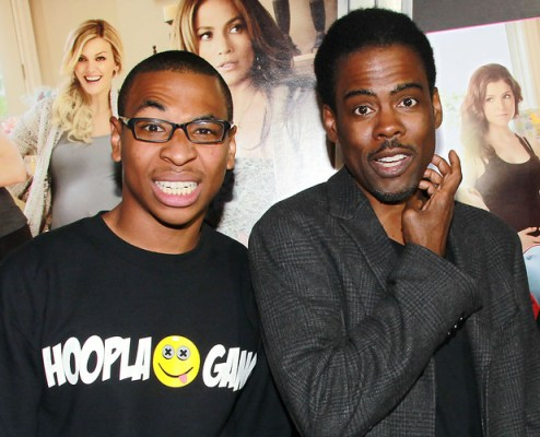Deshawn Raw (L) and Chris Rock