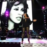 Nicci Gilber singing a tribute to Whitney Houston