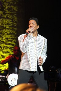 Jermaine Jackson of the Jackson Five performs on the Jacksons &#039;Unity Tour 2012&#039; at The Cannery in Las Vegas - July 20, 2012
