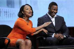 Actress Lynn Whitfield and actor Michael Jai White speak at the 'Somebody's Child' discussion panel during the GMC portion of the 2012 Summer Television Critics Association tour at the Beverly Hilton Hotel on August 2, 2012 in Los Angeles