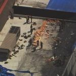 A fire broke out on the roof of Tyler Perry studios in southwest Atlanta on Monday (WSBs news chopper 2).
