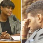 tameka & usher (in court)