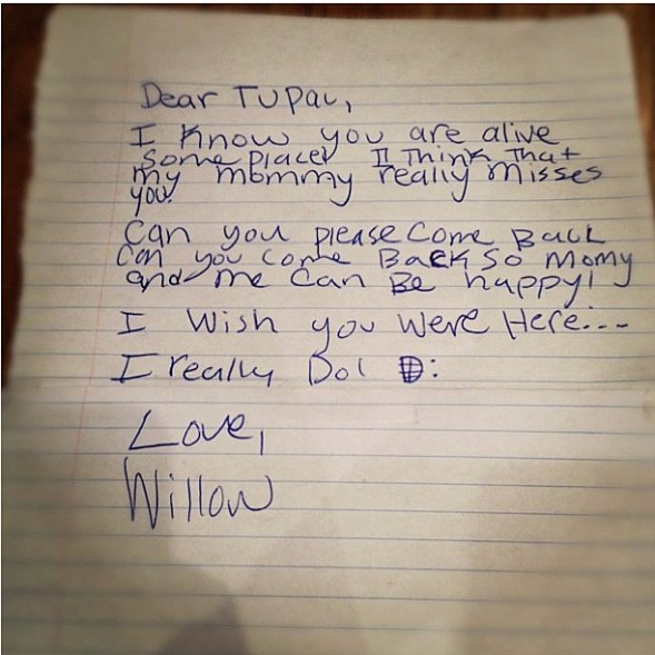 willow smith tupac letter